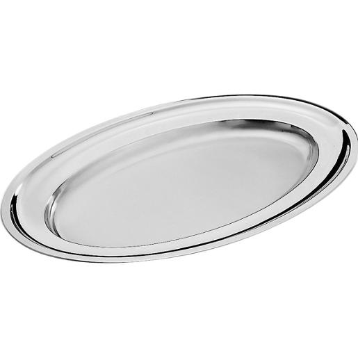 Oval Serving Platter 36x25cm. Stainless Steel