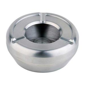 Ashtray with Windcover Dia 10cm Stainless Steel