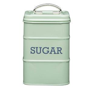 Sugar Canister Dia 11x17cm Stainless Steel Green