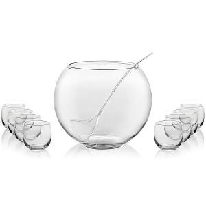 Selene Punch Bowl Set of 8 Pieces