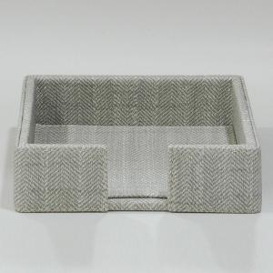 Small Napkin Holder Leather Light Grey