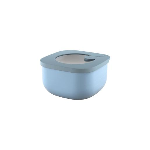 Store And More Shallow Airtight Containers .45 Liter Blue