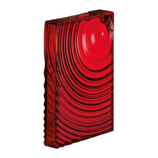 Flat Pack Water Bottle Ripples Red