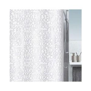 Shower Curtain Creamy Silver 180 x 200 cm