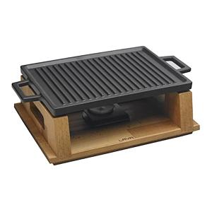 Hot Plate with Wooden Stand Base 30x22cm