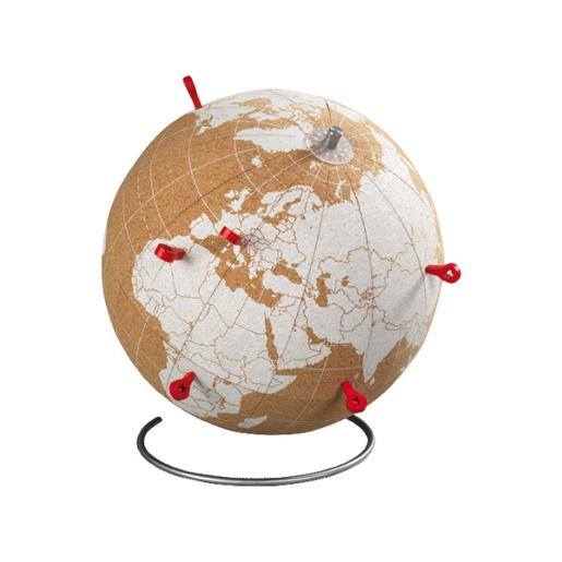 Globe Dia 20cm White With 6 Red Pins