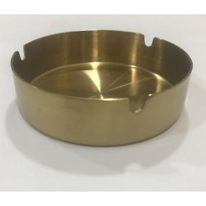 Round Ashtray Red Gold PVD 10cm