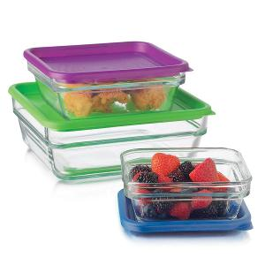 Glass Containers Set of 3 Pieces
