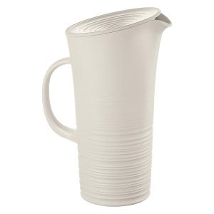 Tierra Pitcher with Lid 1.800 Liter White