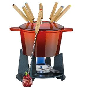 Grenoble Fondue Set Red