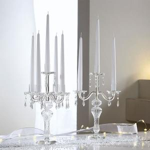 Clear Glass Chandelier With Drops Dia 24x10x36cm