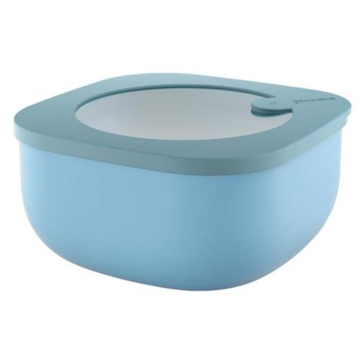 Store And More Shallow Airtight Small Container .975 Liter Blue