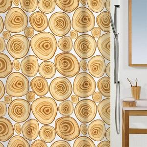 Log Shower Curtain, Size: 180x200cm