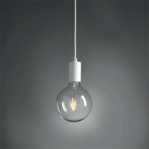 Metal Lamp With Fabric Cable White
