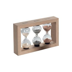 Triple Small Hour Glasses With Beech Frame