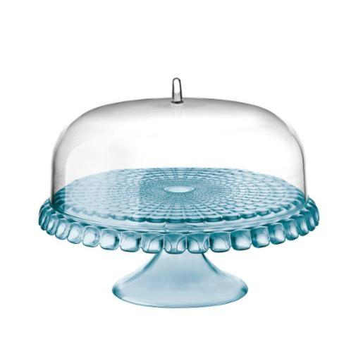 Cake Stand With Dome Sea Blue