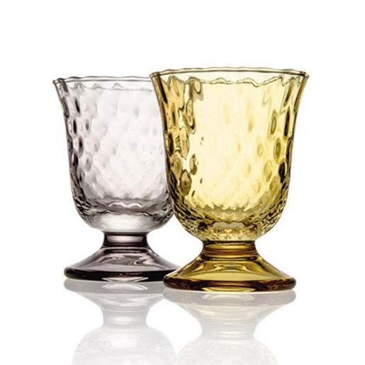 Fiordaliso Goblet 240ml Optic Grey/ Hony Set of 2 Pieces