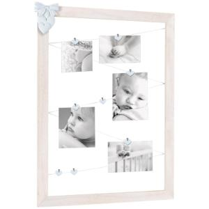 Tenderness Multi Frame With Resin Decorations And Clips Pink