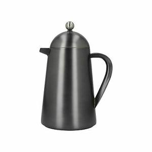 French Press Coffee Pot 8 Cups Grey