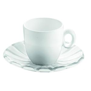 Grace Espresso Cups & Saucers Set of 6 Pieces Transparent