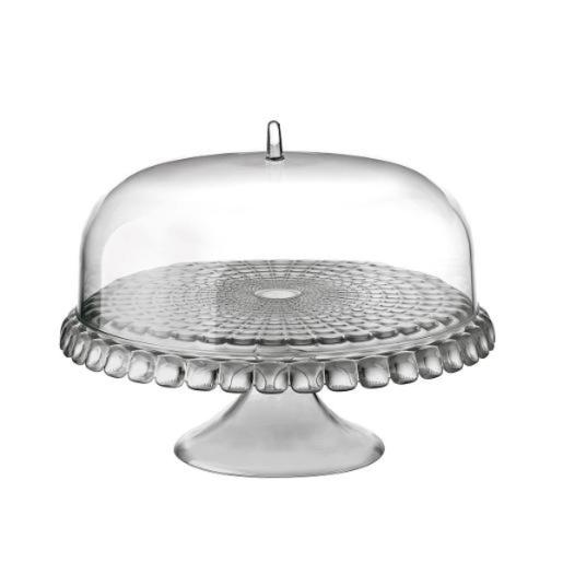 Cake Stand With Dome Sky Grey