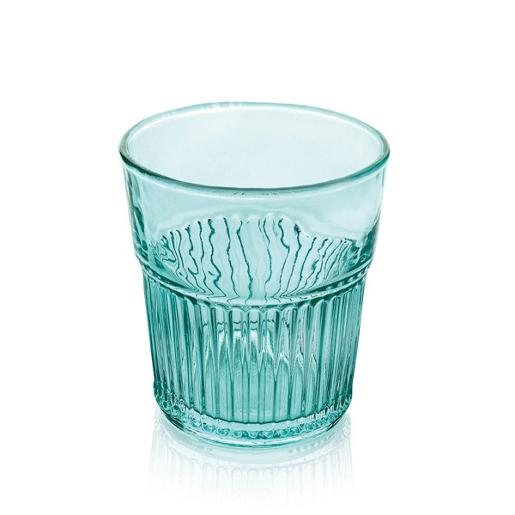 Industrial Chic Water Tumbler 280ml Set of 6 pieces Turquoise