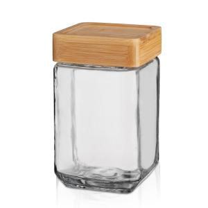 Square Jar 1600ml Glass