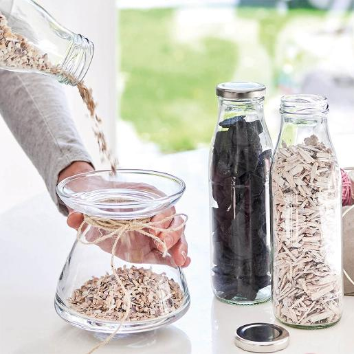 Bottle 500ml With White Wood Flakes