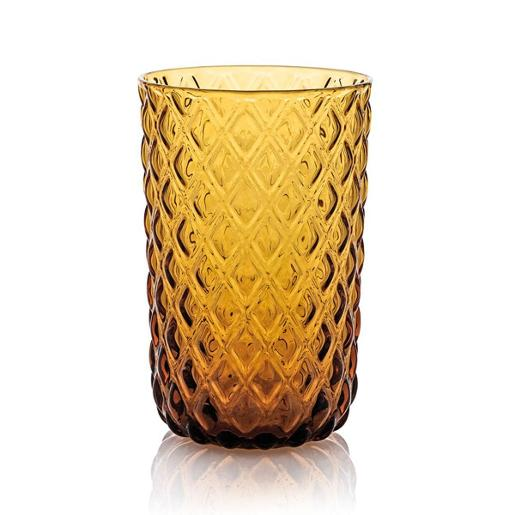 Net Tall Tumbler 44ml Set of 6 pieces Amber