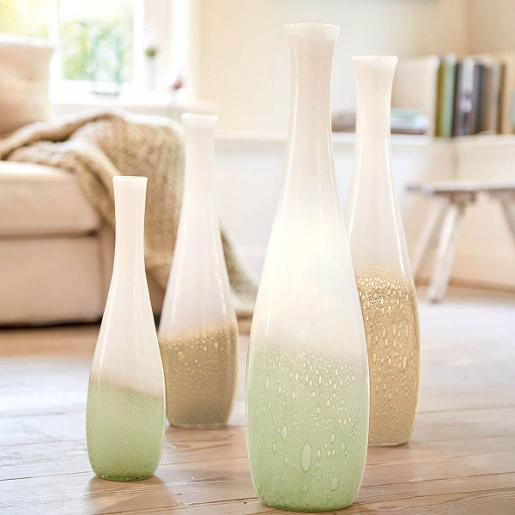 Casolare Vase Whie and Green Hight 40cm