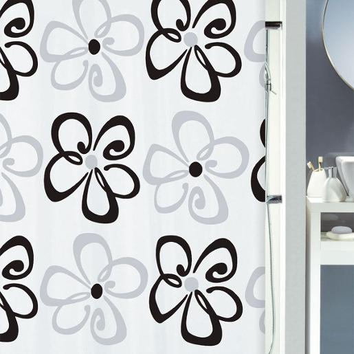 Follie Shower Curtain Black 180 x 200 cm