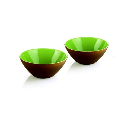 My Fusion Bowls Dia 12cm Brown & Green Set of 2 Pieces
