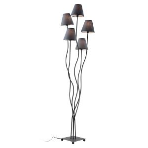 Floor Lamp with Metal Structure & Fabric Lampshades H.163cm