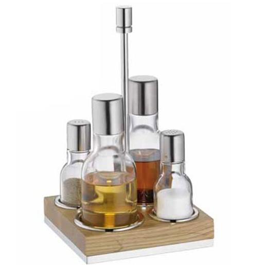 Cruet Set Natural Wood
