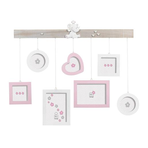Wall Multi Picture Frame70x60cm Pink