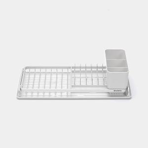 Small Compact Dish Drying Rack Light Gray