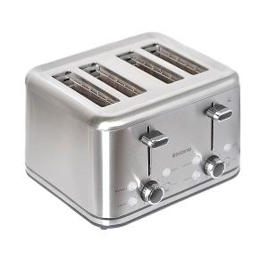 Four Slice Toaster Stainless Steel 1800W Platinum
