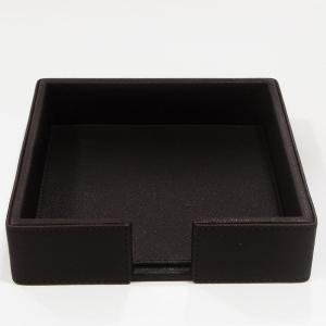 Large Napkin Holder Leather Brown