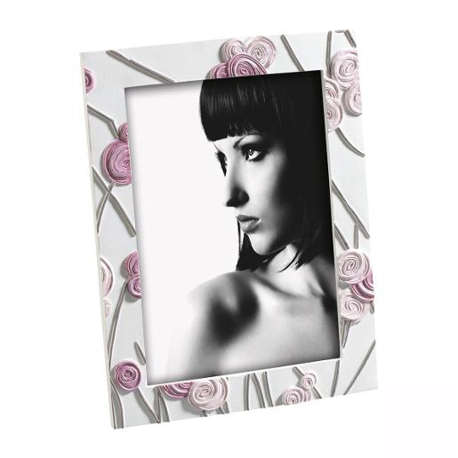 Picture Frame 13x18cm White & Pink