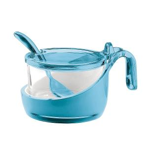 Look Sugar Holder with Lid Blue