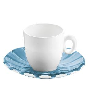 Grace Espresso Cups & Saucers Set of 6 Pieces Blue