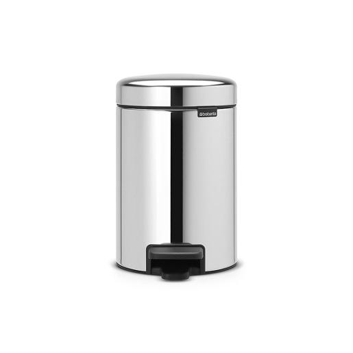N Icon Pedal Bin 3 Liter Brilliant Steel