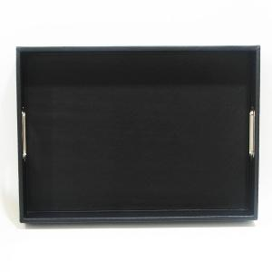 Rectangular Tray Leather Black
