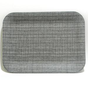 Rectangular Tray Leather Silver