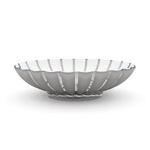 Grace Oval Fruit Bowl 37.5x30.5cm Grey