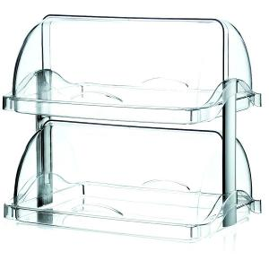 Confectionery Container two Tiers Transparent