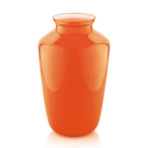 Orchid Vase H 30cm Cased Beige Orange