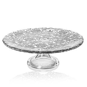 Arabesque Footed Cake Stand 26cm Silver