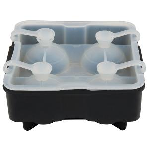 Silicone Ice Sphere & Cube Molds 4-Section