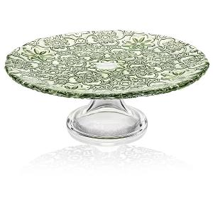 Arabesque Footed Cake Plate 26cm Green